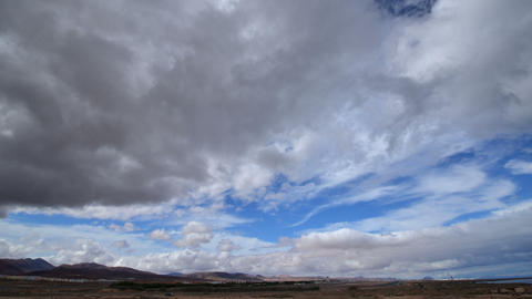 4k UHD dramatic clouds at airport time lapse 11146 Stock Video Footage