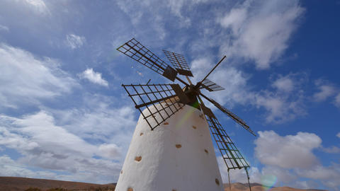 windmill and clouds time lapse tilt 11152 Stock Video Footage