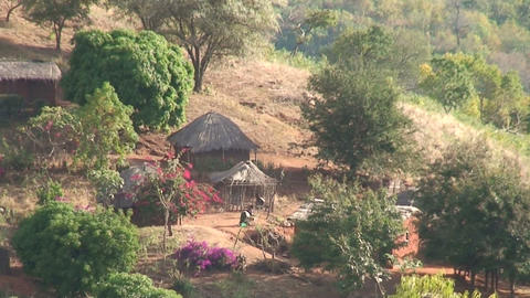 African Village (5) Stock Video Footage