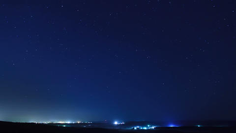 Stars Above The City. Time Lapse stock footage