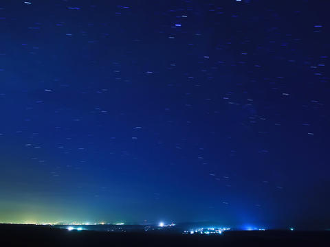 Stars above the city. Time Lapse. 4x3 Stock Video Footage