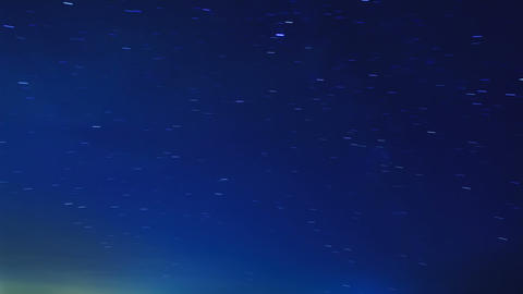 Stars leave tracks. Time Lapse Stock Video Footage
