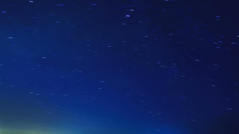 Stars leave tracks. Time Lapse Stock Video Footage
