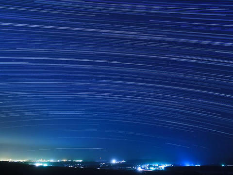 Stars above the city. Time Lapse Footage