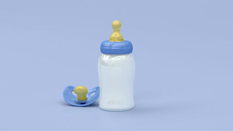 Bottle and pacifier Animation