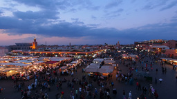 Jemaa el Fna Square in Marrakesh, Morocco Footage