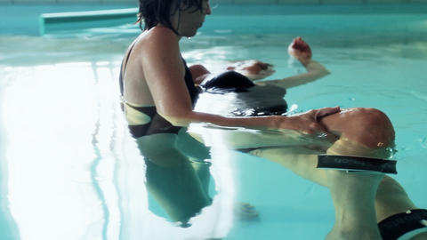 Water Healing Hydrotherapy well being therapist se Stock Video Footage