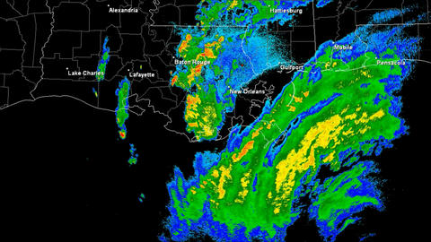 Hurricane Gustav Landfall Time Lapse Stock Video Footage
