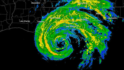 Hurricane Gustav Landfall Time Lapse Stock Video Footage