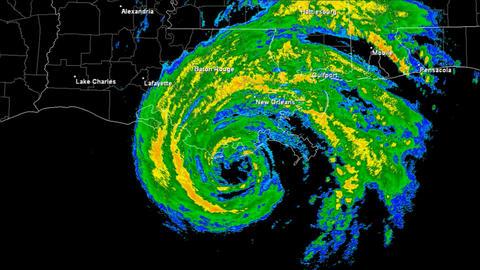 Hurricane Gustav Landfall Time Lapse Animation