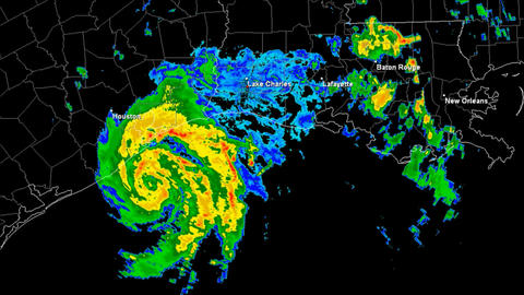 Hurricane Humberto Landfall Time Lapse Stock Video Footage