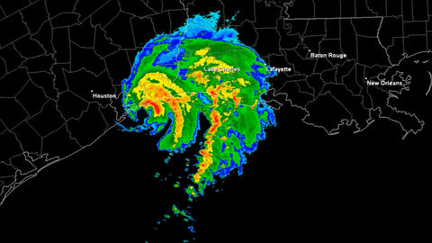Hurricane Humberto Landfall Time Lapse Stock Video Footage