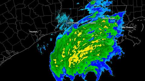 Hurricane Rita Landfall Time Lapse Stock Video Footage