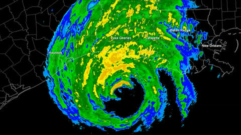 Hurricane Rita Landfall Time Lapse Animation
