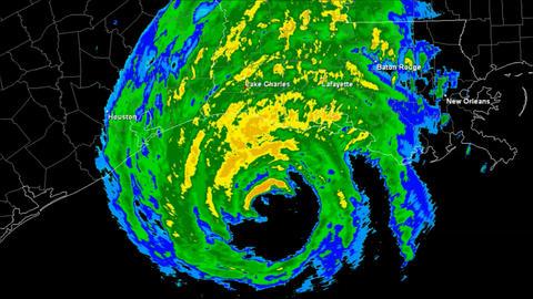 Hurricane Rita Landfall Time Lapse Animation