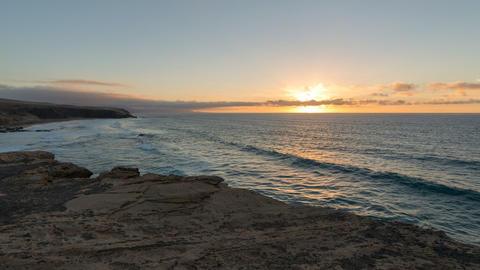 time lapse sunset la pared beach pan tilt 11167 Stock Video Footage