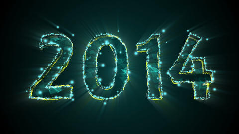 New Year 2014 and 2015 Titles Stock Video Footage