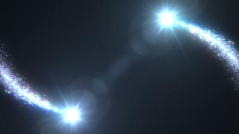 Light streaks and particles 2 A 0a HD Stock Video Footage
