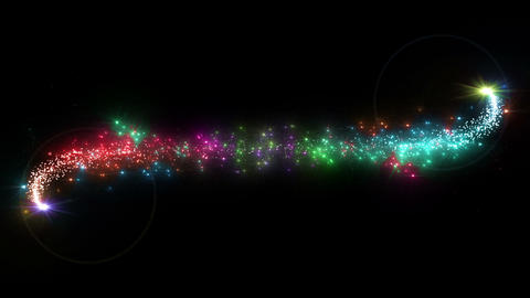 Light streaks and particles 2 C 1a 3 HD Stock Video Footage
