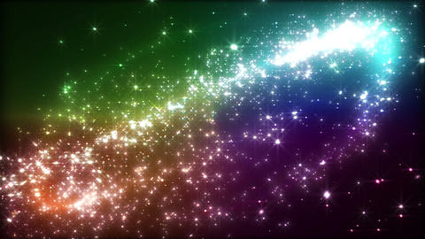 Light streaks and particles 2 D 3a 3 HD Stock Video Footage