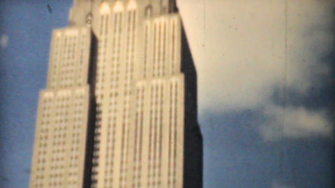 Empire State Building Downtown New York City 1940 Stock Video Footage