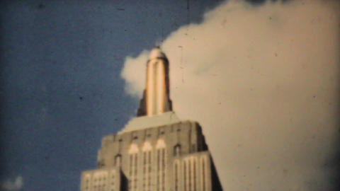 Empire State Building Downtown New York City 1940 stock footage