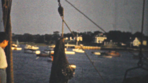 Icing Fresh Fish In Massachusetts 1940 8mm film Stock Video Footage