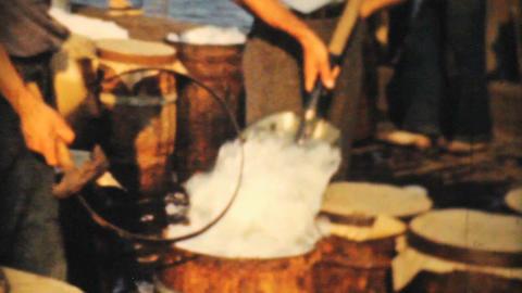 Icing Fresh Fish In Massachusetts 1940 8mm film Stock Video Footage