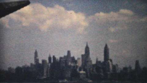 New York Skyline 1940 Vintage 8mm film Stock Video Footage