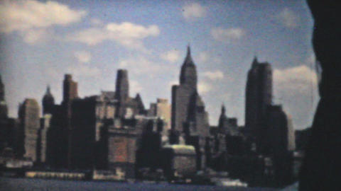 New York Skyline 1940 Vintage 8mm film Footage