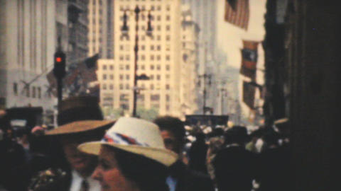 Strand Theatre On Broadway In New York City 1940 Stock Video Footage
