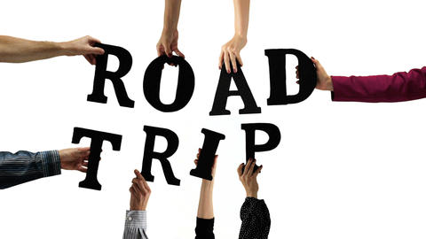 Letter Hands Road Trip Stock Video Footage