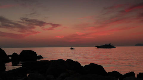 Timelapse sunset on the sea. Crimea, Ukraine. FULL Stock Video Footage