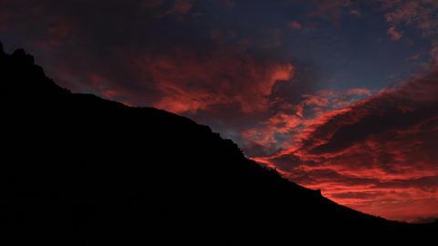 Timelapse sunrise in the mountains Demerdji. Alush Stock Video Footage