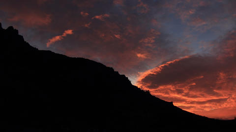 Timelapse sunrise in the mountains Demerdji. Alush Stock Video Footage