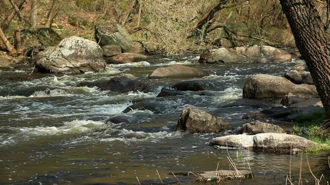 Waterfall on the River Mountain Tikich. Buki villa Stock Video Footage