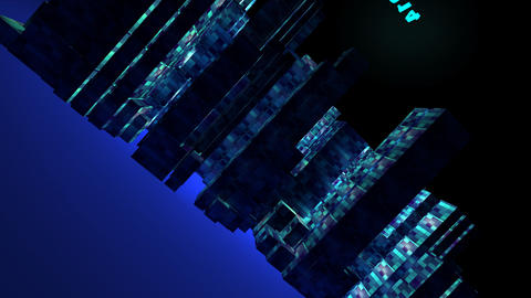 3d animation of the city new year Stock Video Footage