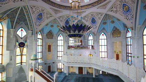 interior of kul sharif mosque - kazan russia Stock Video Footage