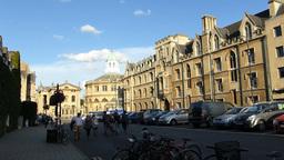 Sheldonian Theatre, Oxford, England (OXFORD Sheldo Stock Video Footage