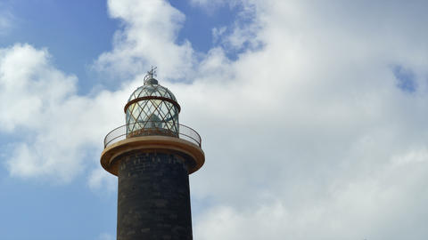 4k UHD lighthouse and clouds time lapse 11175 Stock Video Footage