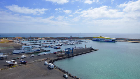 4k UHD morro jable harbour marina time lapse 11183 Stock Video Footage