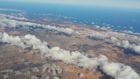 Fly Over Lanzarote 11185 stock footage