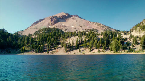 Lassen Volcanic National Park Lake stock footage