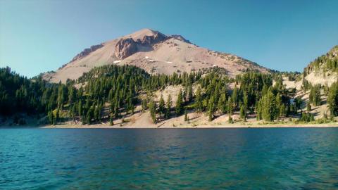Lassen Volcanic National Park Lake Stock Video Footage