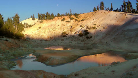 Lassen Volcanic National Park Hot Spring stock footage
