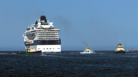 Cruise ship Millenium 6 Stock Video Footage
