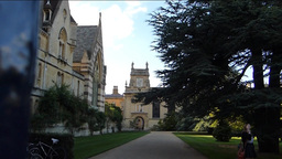 Old buildings of Oxford University Stock Video Footage