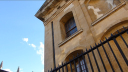Old buildings of Oxford University street Stock Video Footage