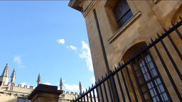 Old buildings of Oxford University street Footage