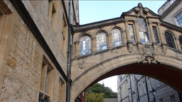 Hertford Bridge also known as Bridge of Sighs, Oxf Footage